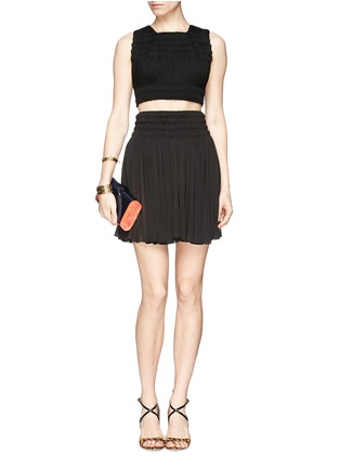 Figure View - Click To Enlarge - Alaïa - Shirred cropped top