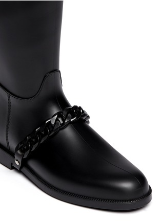 Detail View - Click To Enlarge - Givenchy - Equestrian rubber rainboots