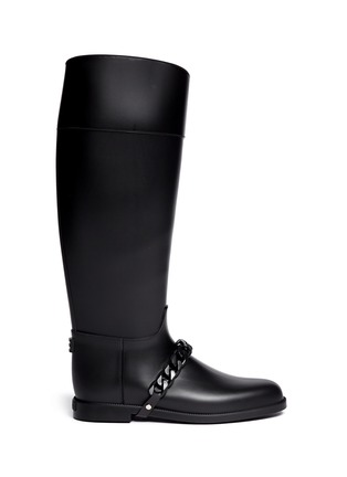 Main View - Click To Enlarge - Givenchy - Equestrian rubber rainboots