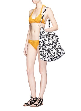 Front View - Click To Enlarge - STELLA MCCARTNEY - Horse print beach bag