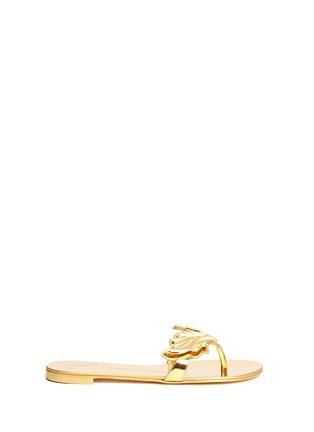 Main View - Click To Enlarge - Giuseppe Zanotti Design - 'Cruel' mirror patent leather slide sandals