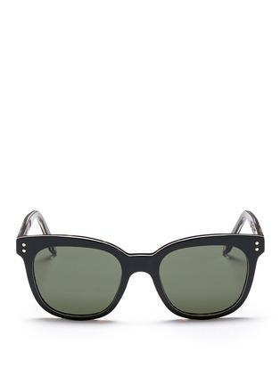 Main View - Click To Enlarge - VICTORIA BECKHAM - 'The VB' colourblock tortoiseshell effect acetate square sunglasses