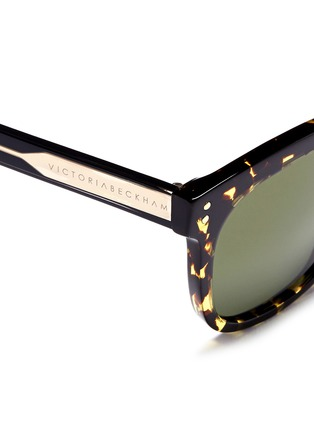 Detail View - Click To Enlarge - VICTORIA BECKHAM - 'The VB' tortoiseshell effect acetate square sunglasses