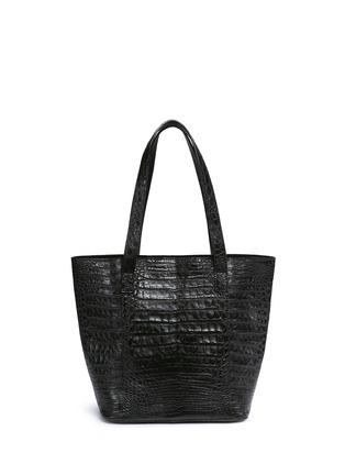 Main View - Click To Enlarge - CELESTINA BAGS - 'Perez Mini' Caiman crocodile leather tote