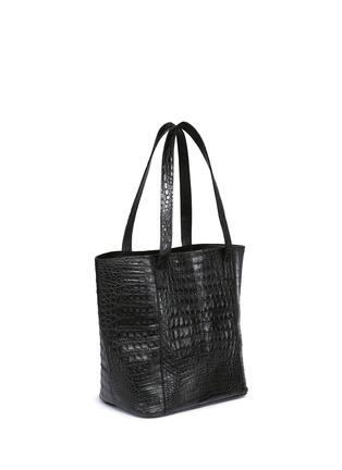 Figure View - Click To Enlarge - CELESTINA BAGS - 'Perez Mini' Caiman crocodile leather tote