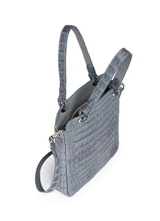 Detail View - Click To Enlarge - CELESTINA BAGS - 'Doris' Caiman crocodile leather bag