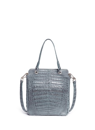 Back View - Click To Enlarge - CELESTINA BAGS - 'Doris' Caiman crocodile leather bag