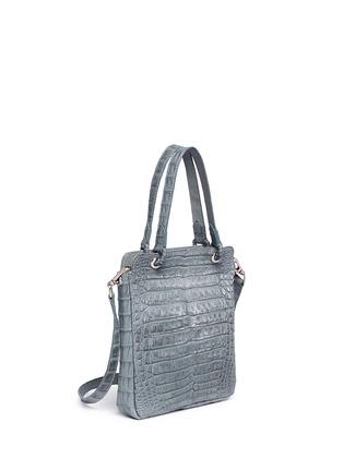 Figure View - Click To Enlarge - CELESTINA BAGS - 'Doris' Caiman crocodile leather bag