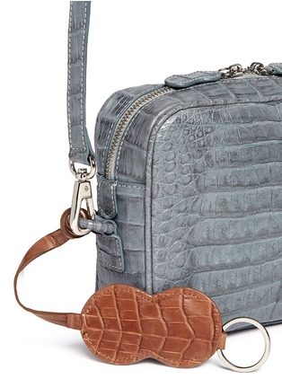 Detail View - Click To Enlarge - CELESTINA BAGS - Roxas' small Caiman crocodile leather shoulder bag