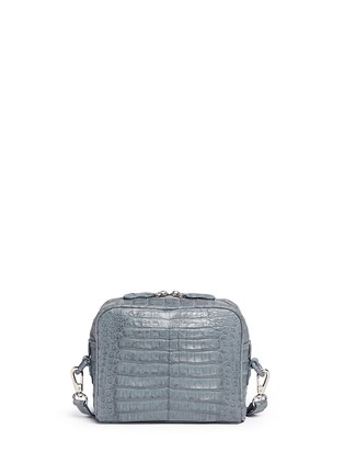 Main View - Click To Enlarge - CELESTINA BAGS - Roxas' small Caiman crocodile leather shoulder bag