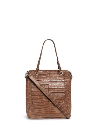 Main View - Click To Enlarge - CELESTINA BAGS - 'Doris' Caiman crocodile leather bag