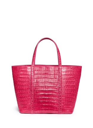 Main View - Click To Enlarge - CELESTINA BAGS - 'Coronel' Caiman crocodile leather shopper tote