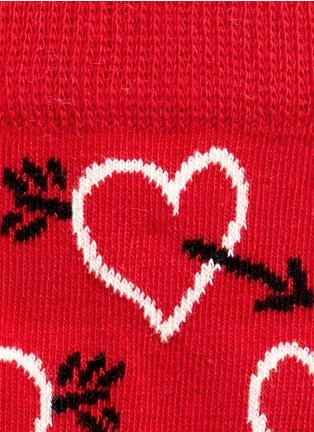 Detail View - Click To Enlarge - Happy Socks - Heart and arrow kids socks 2-pair pack