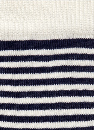 Detail View - Click To Enlarge - Happy Socks - Nautical stripe and polka dot kids socks 2-pair pack