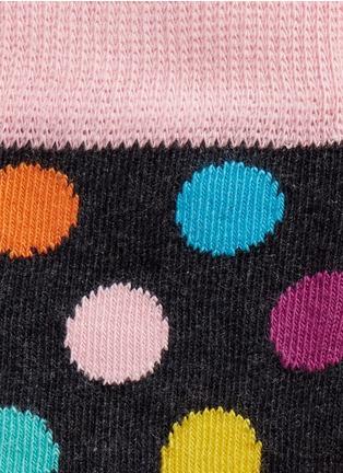 Detail View - Click To Enlarge - Happy Socks - Colourblock stripe and polka dot kids socks 2-pair pack