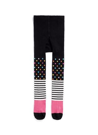 Main View - Click To Enlarge - Happy Socks - Stripe and polka dot kids tights