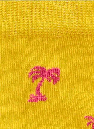 Detail View - Click To Enlarge - Happy Socks - Wave and palm tree kids socks 2-pair pack