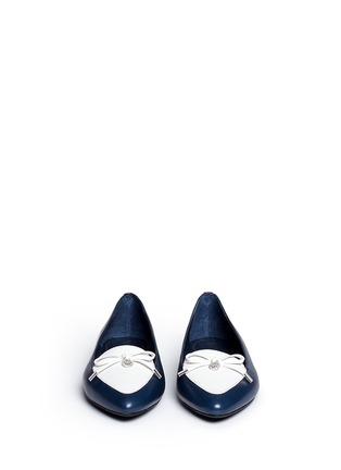 Front View - Click To Enlarge - Michael Kors - Nancy' contrast vamp leather flats