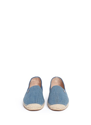 Front View - Click To Enlarge - Michael Kors - 'Kendrick' denim espadrille slip-ons