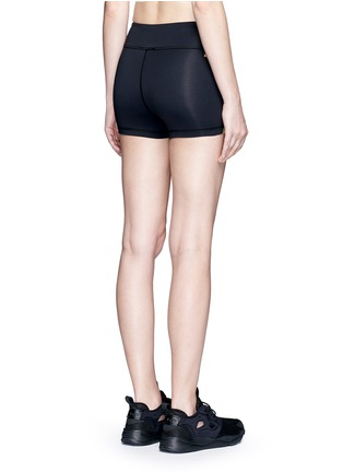 Back View - Click To Enlarge - Alala - 'Edge Hot' neon colourblock bike shorts
