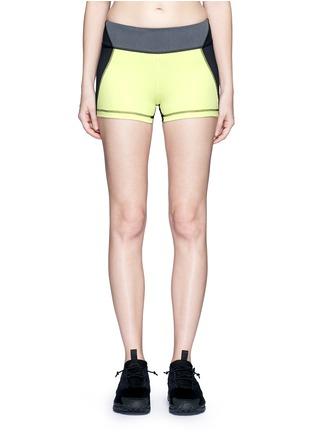 Main View - Click To Enlarge - Alala - 'Edge Hot' neon colourblock bike shorts