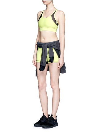 Figure View - Click To Enlarge - Alala - 'Edge Hot' neon colourblock bike shorts