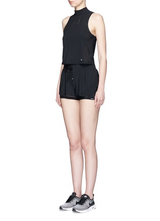 Figure View - Click To Enlarge - Koral - Punch' perforated performance crop top