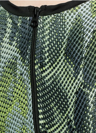 Detail View - Click To Enlarge - Koral - 'Pare' snake print cropped tank top