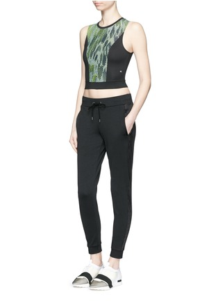 Figure View - Click To Enlarge - Koral - 'Pare' snake print cropped tank top