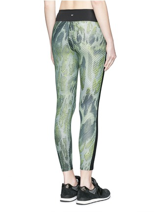 Back View - Click To Enlarge - Koral - 'Dynamic Duo' snake print cropped leggings