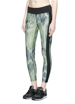 Front View - Click To Enlarge - Koral - 'Dynamic Duo' snake print cropped leggings