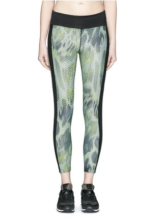 Main View - Click To Enlarge - Koral - 'Dynamic Duo' snake print cropped leggings