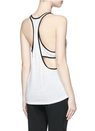 Back View - Click To Enlarge - Koral - 'Vortex' double layer racerback sleeveless tank top