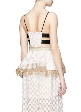 Back View - Click To Enlarge - Mame - Fil coupé fringe handkerchief hem top