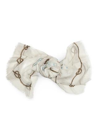 Detail View - Click To Enlarge - Franco Ferrari - 'Rieti' map print modal-linen-silk scarf