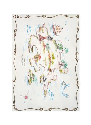 Main View - Click To Enlarge - Franco Ferrari - 'Rieti' map print modal-linen-silk scarf
