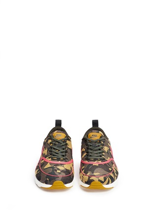 Front View - Click To Enlarge - Nike - 'Air Max Thea Premium Jacquard' camouflage sneakers