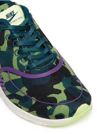 Detail View - Click To Enlarge - Nike - 'Air Max Thea Jacquard Premium' camouflage graphic sneakers