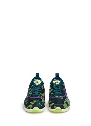 Front View - Click To Enlarge - Nike - 'Air Max Thea Jacquard Premium' camouflage graphic sneakers