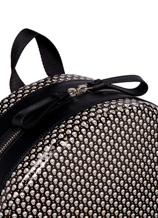 Detail View - Click To Enlarge - Alexander McQueen - Mini skull dot print canvas backpack