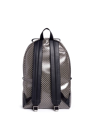 Back View - Click To Enlarge - Alexander McQueen - Mini skull dot print canvas backpack