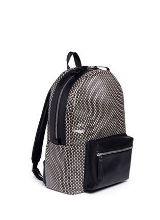 Front View - Click To Enlarge - Alexander McQueen - Mini skull dot print canvas backpack