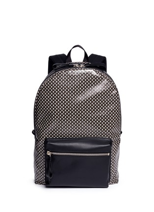 Main View - Click To Enlarge - Alexander McQueen - Mini skull dot print canvas backpack