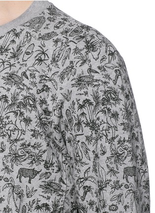 Detail View - Click To Enlarge - PAUL SMITH - Forest animal print sweatshirt