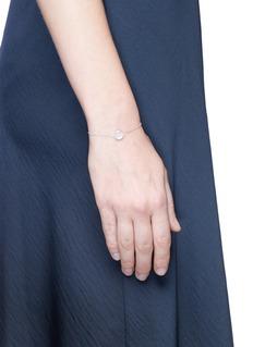 Ruifier 'Happy' sterling silver chain charm bracelet
