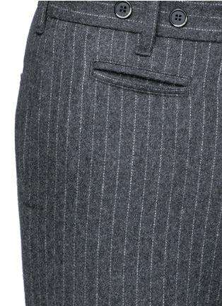 Detail View - Click To Enlarge - Barena - 'Rampin' pinstripe cropped wool pants