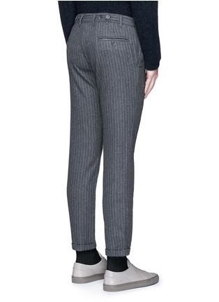 Back View - Click To Enlarge - Barena - 'Rampin' pinstripe cropped wool pants