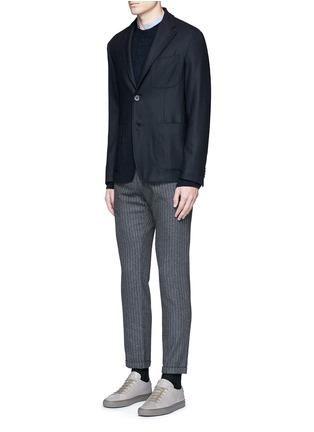 Figure View - Click To Enlarge - Barena - 'Rampin' pinstripe cropped wool pants
