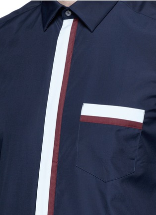 Detail View - Click To Enlarge - KENZO - Contrast placket trim cotton shirt