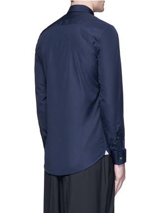 Back View - Click To Enlarge - KENZO - Contrast placket trim cotton shirt